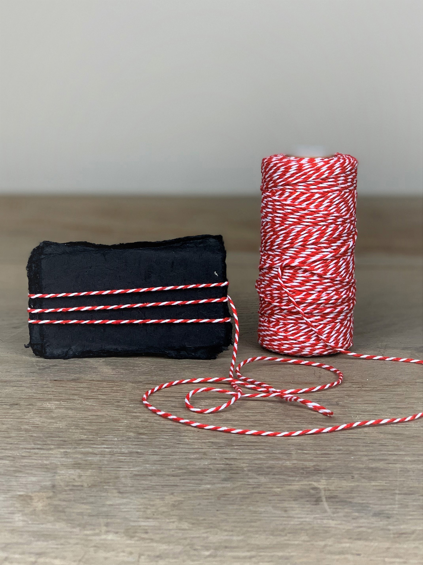 Bakers Twine 100m rot/weiß