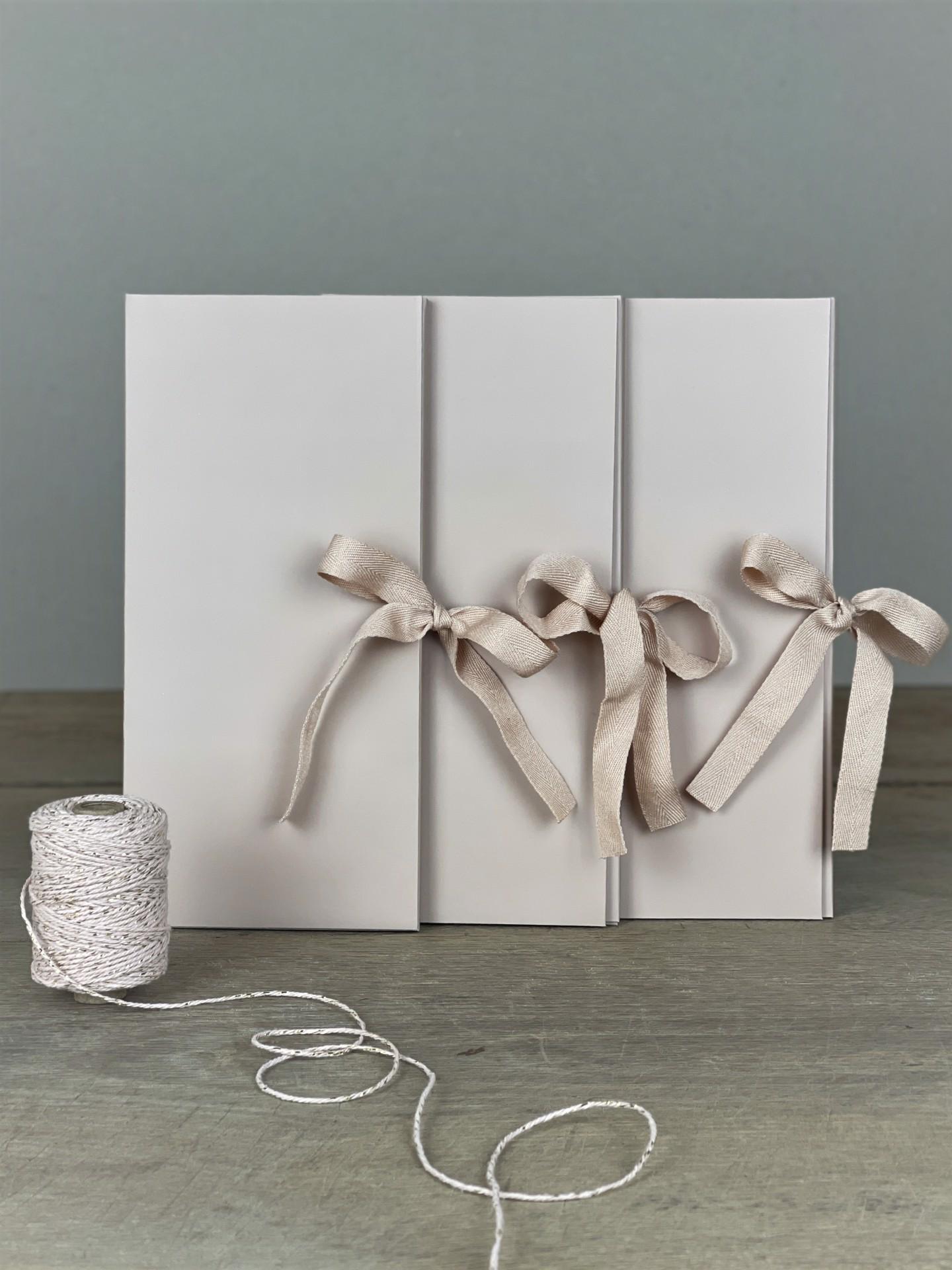 Geschenkhülle 3er Set nude