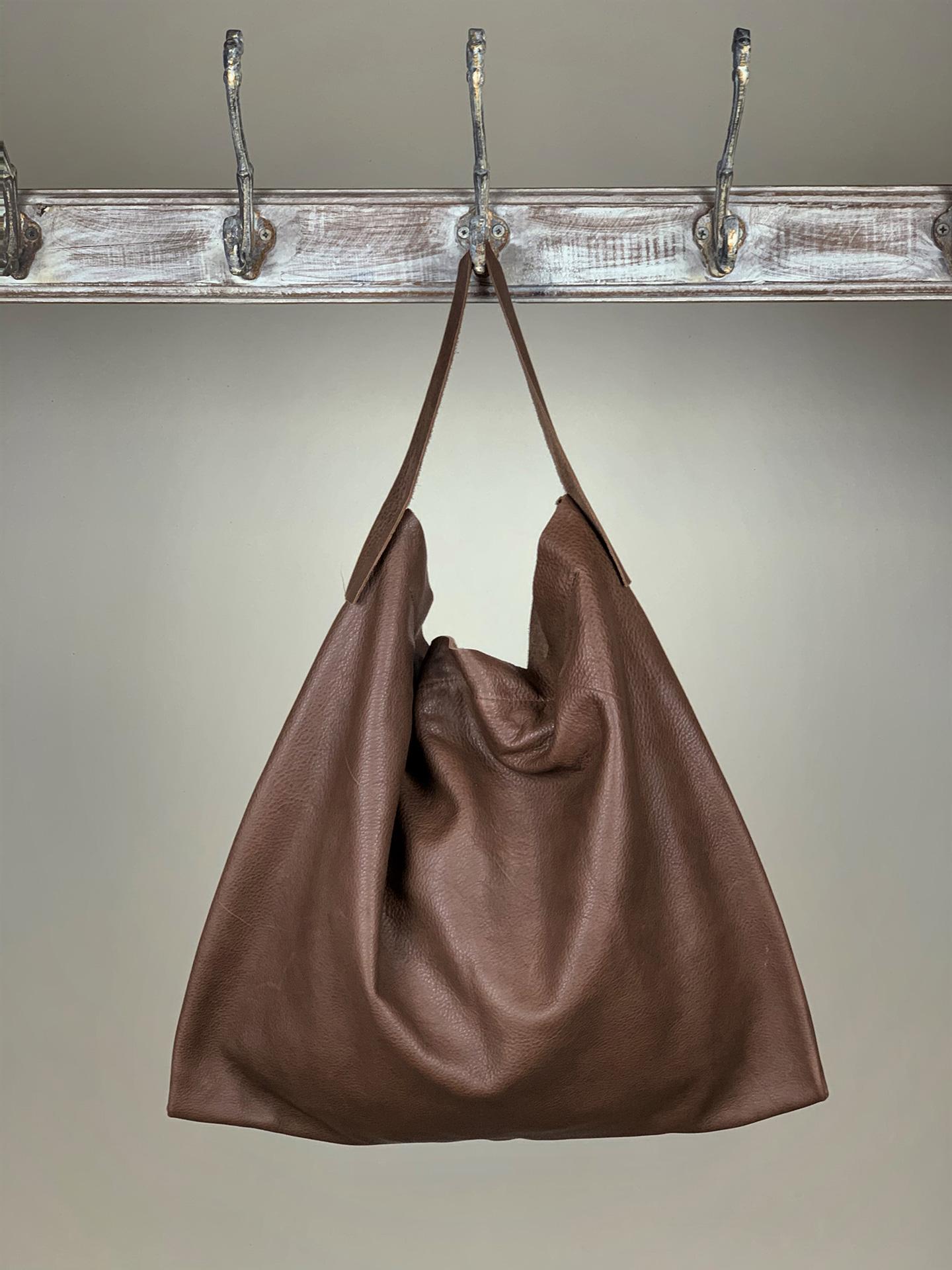 Damen-Handtasche Leder Braun