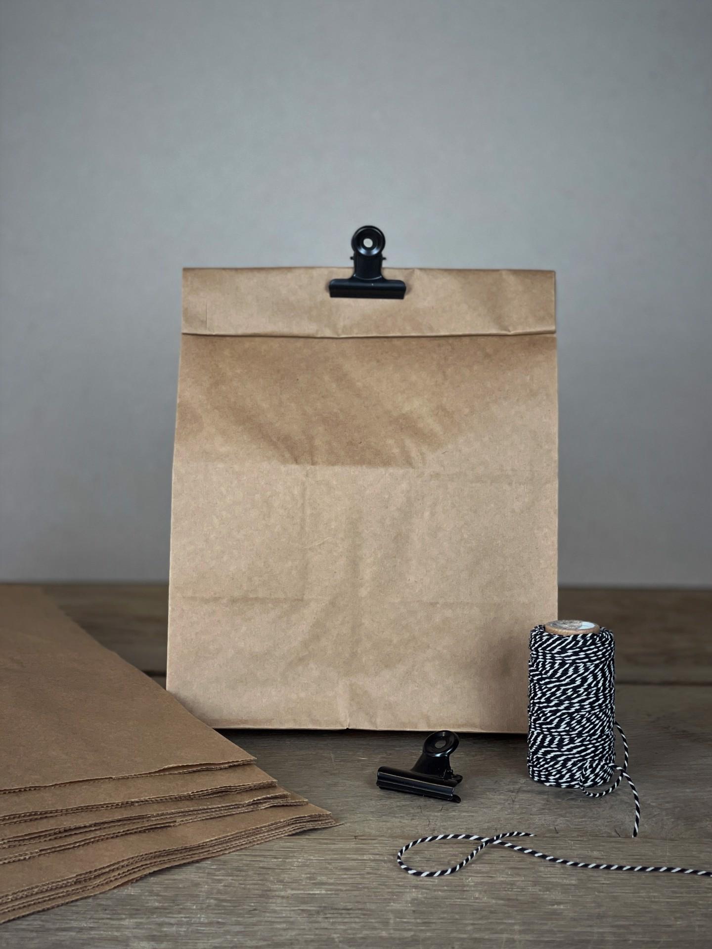 Papiertüten Set mit Boden kraft