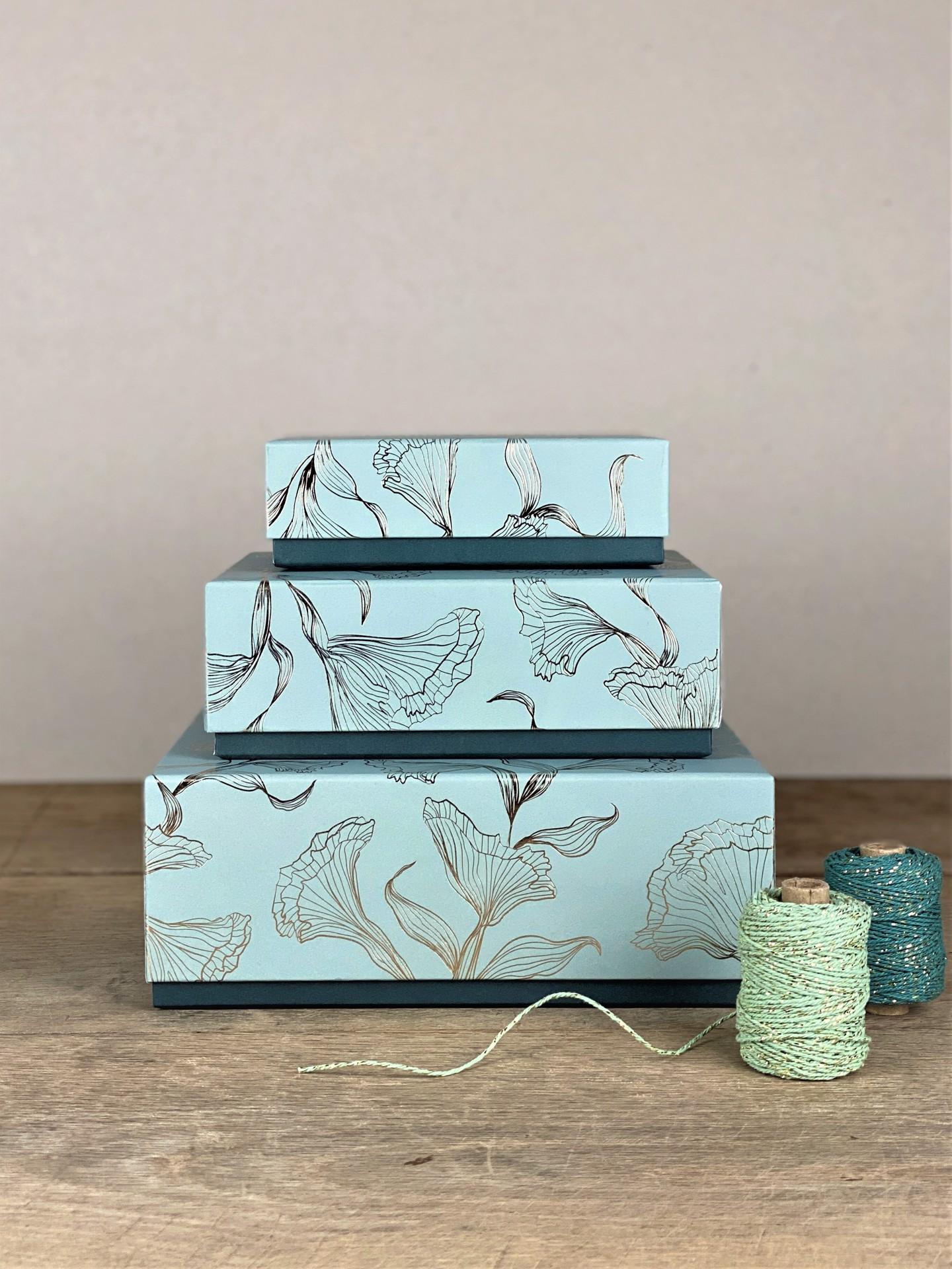 Geschenkbox mint floral