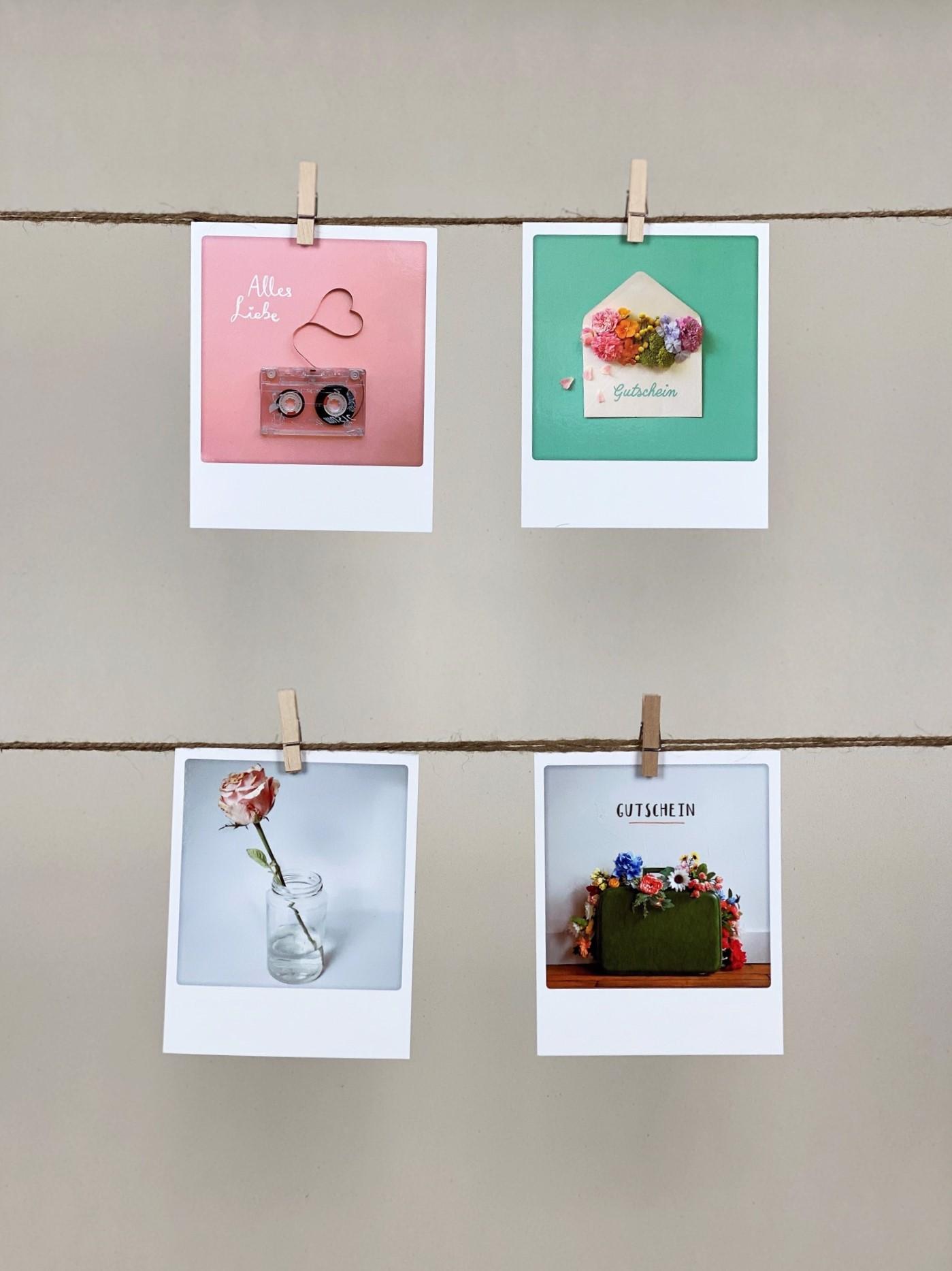 Polaroid-Karten-Set Gutschein Allrounder