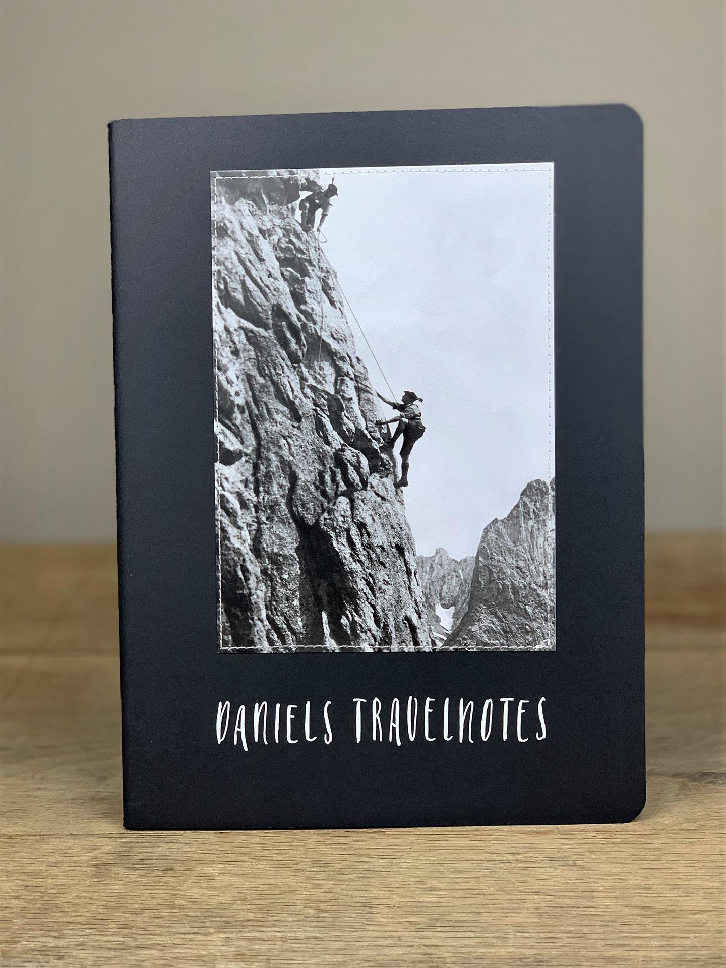 Heft B4 Travelnotes Bergsteiger schwarz KH15
