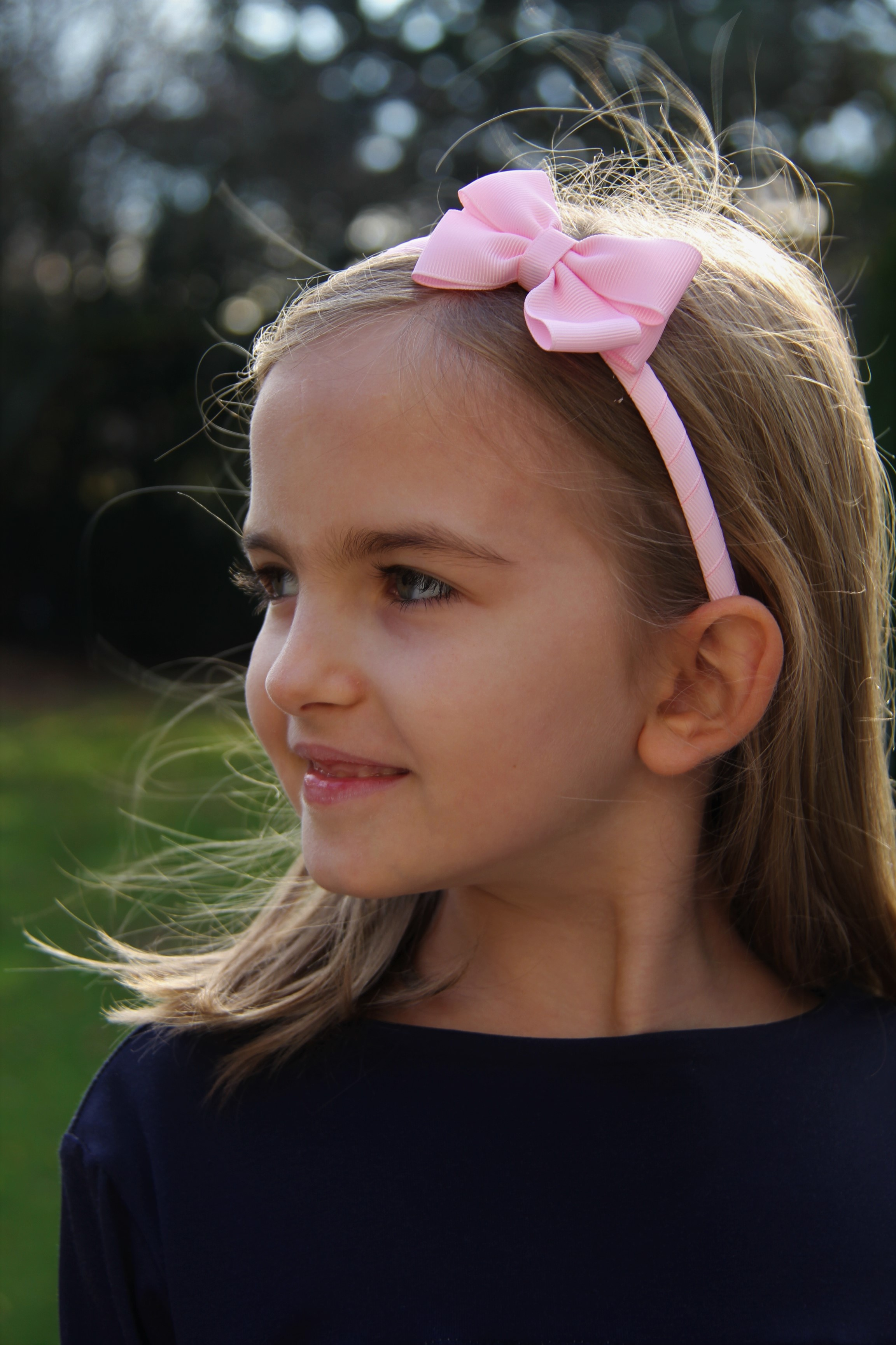 Haarreifen  Maschen rosa