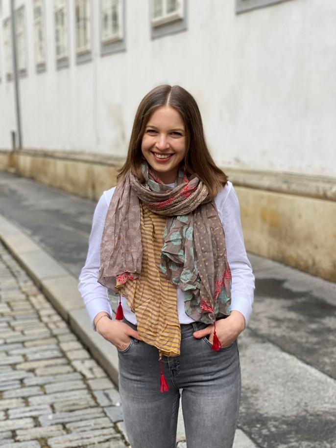 Schal Muster braun/bunt
