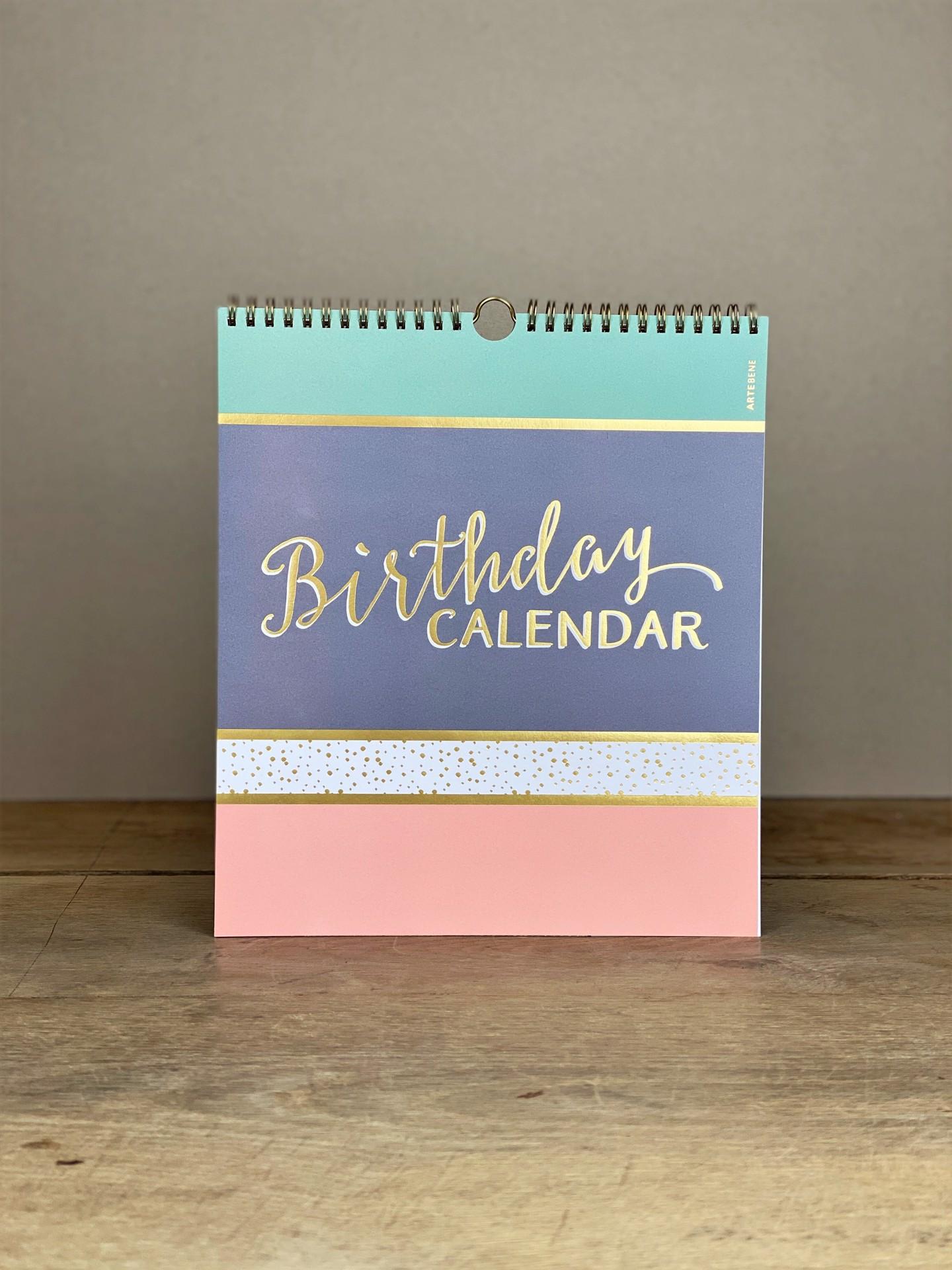 Geburtstagskalender pastell