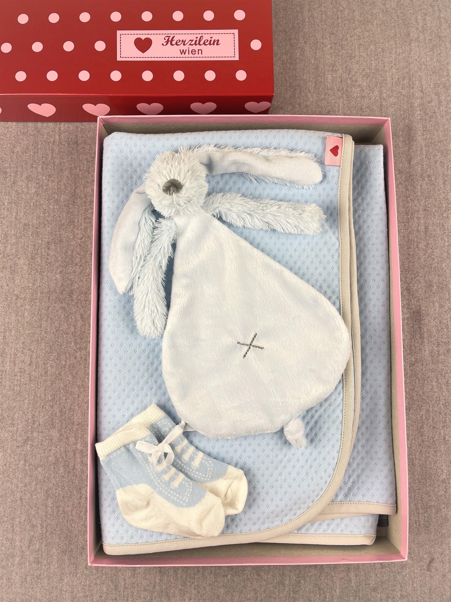 Geschenkbox Set No. 26 Hase blau