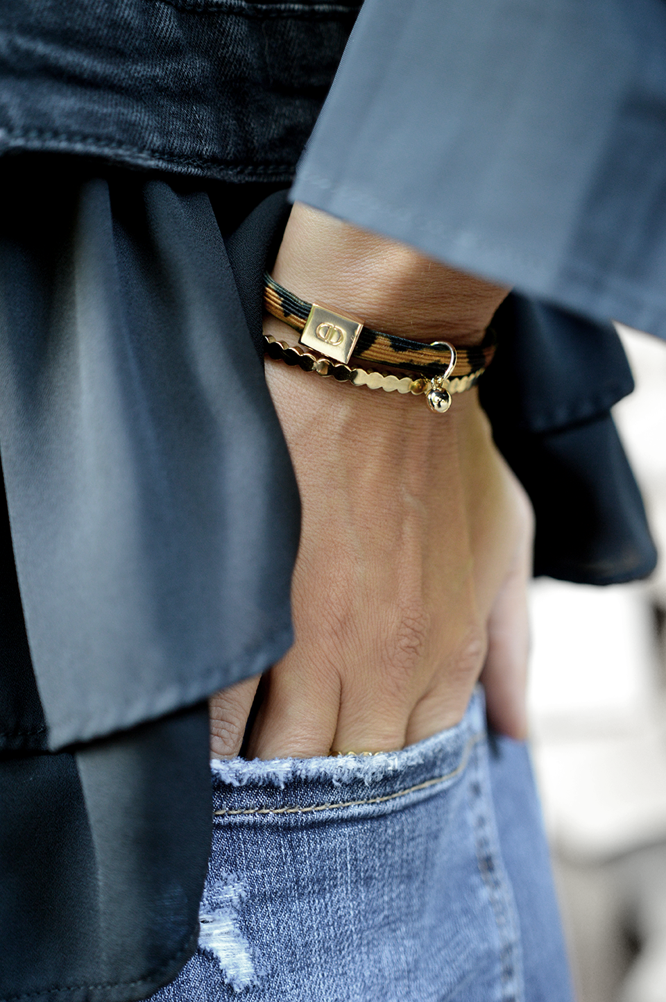 Armband elastic leo