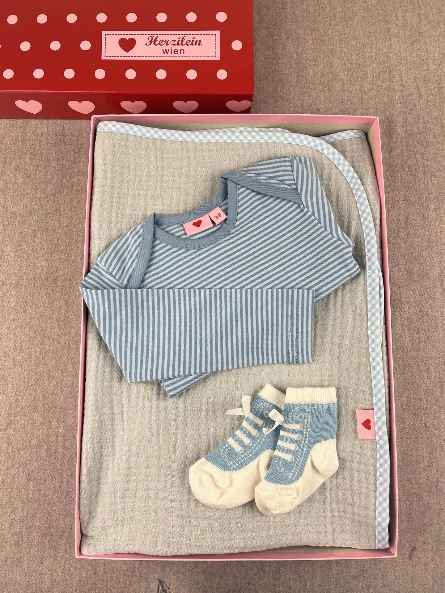 Geschenkbox Set No. 32 classic blau/grau