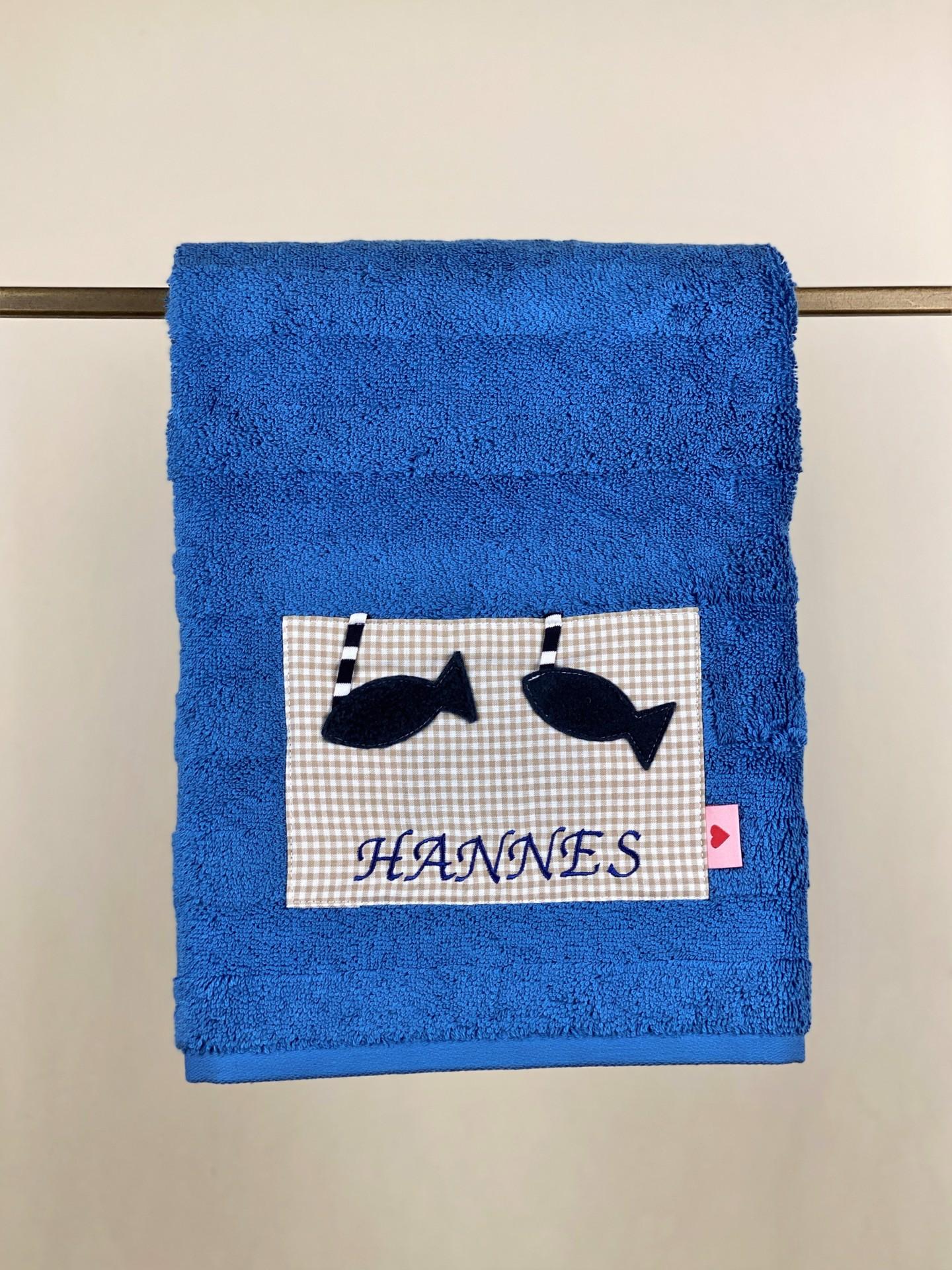 Handtuch No. 8 Fisch blau