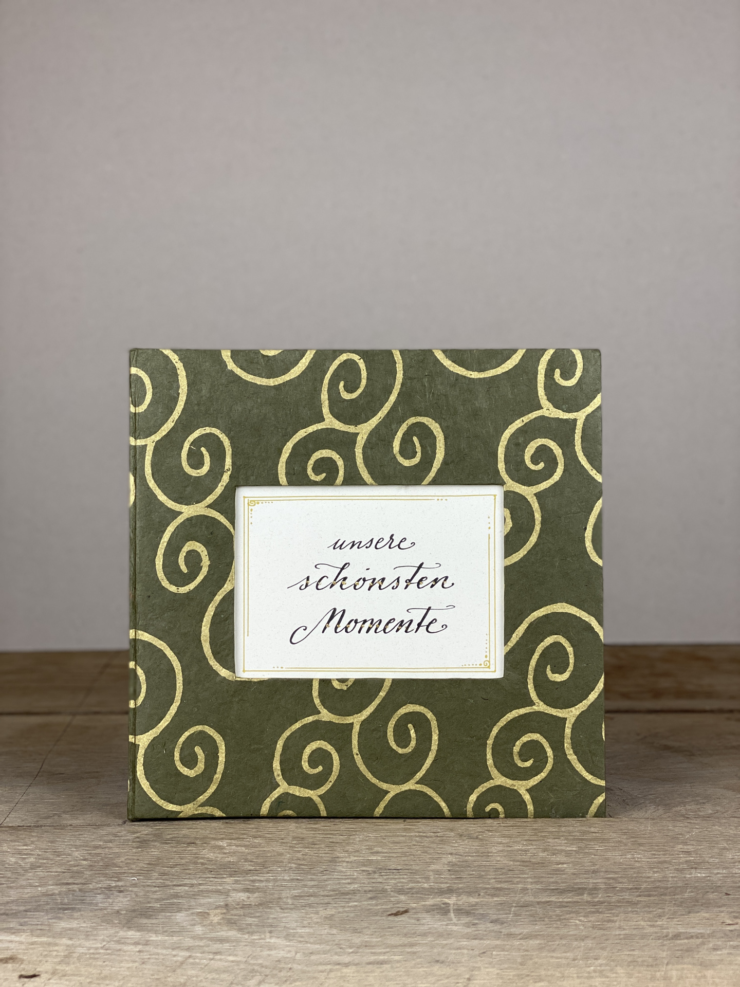 Album Hardcover Quart grau/gold Spirale