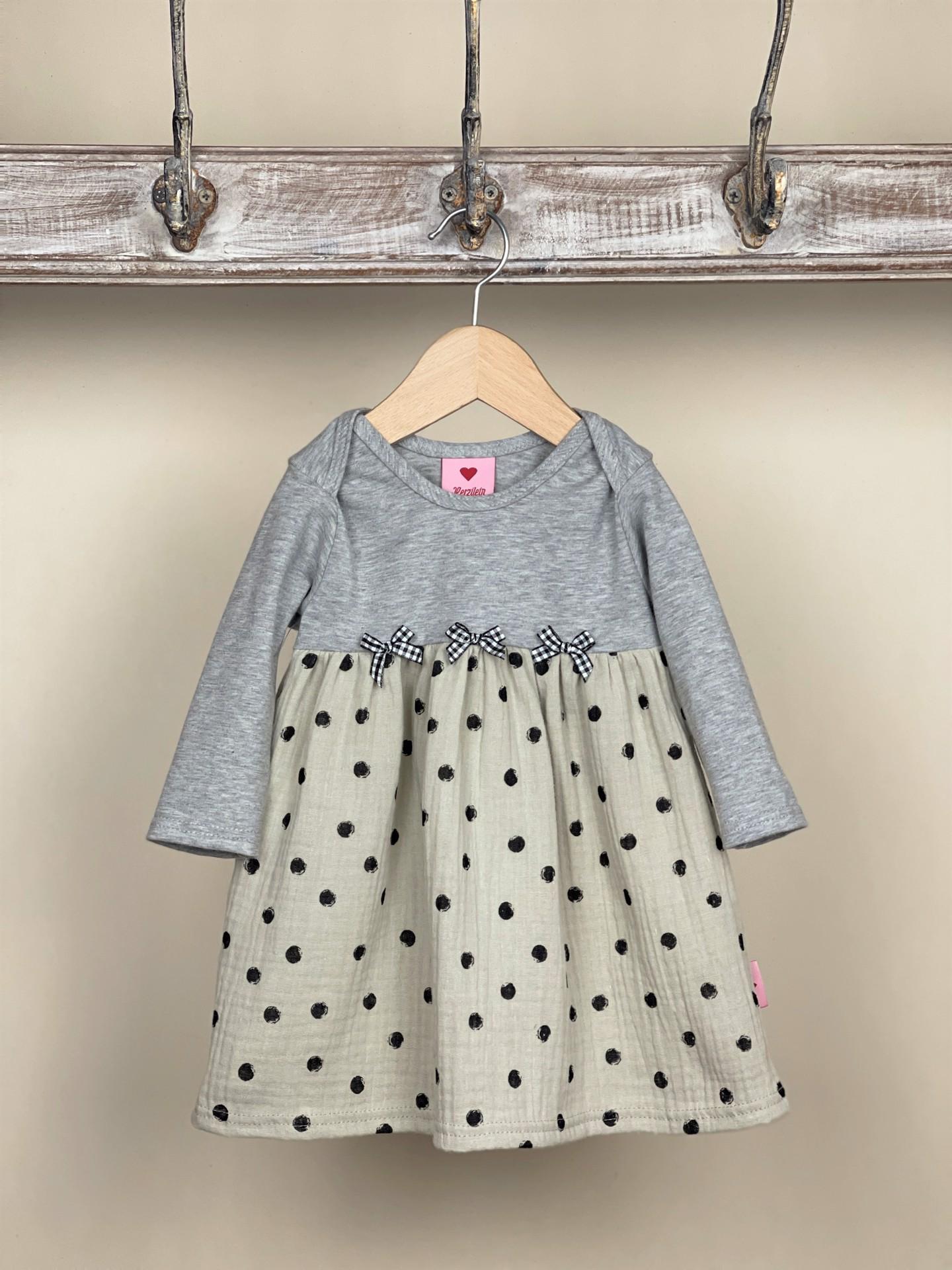 Kleid Grau Dots