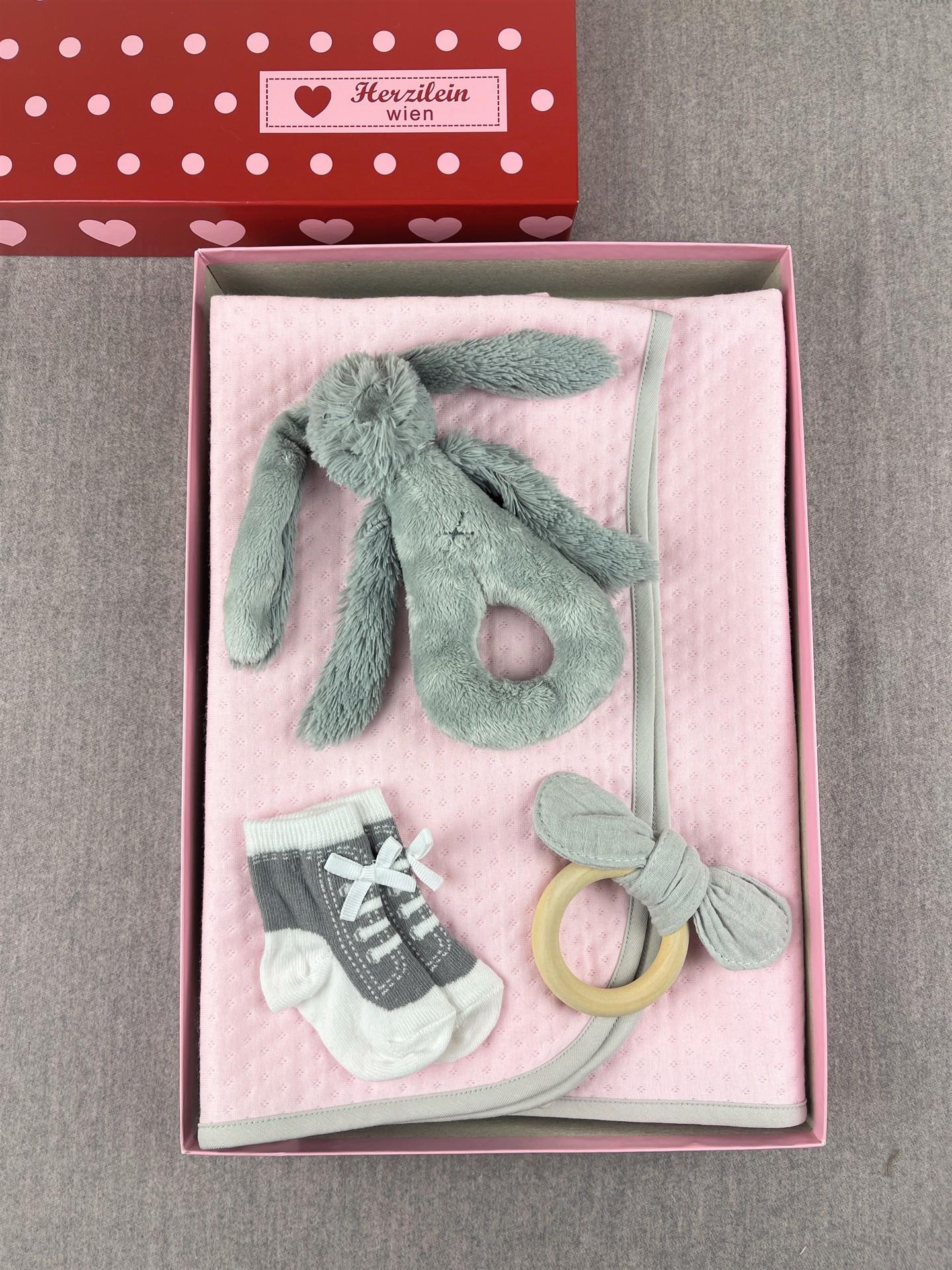 Geschenkbox Set No. 28 Hase rosa