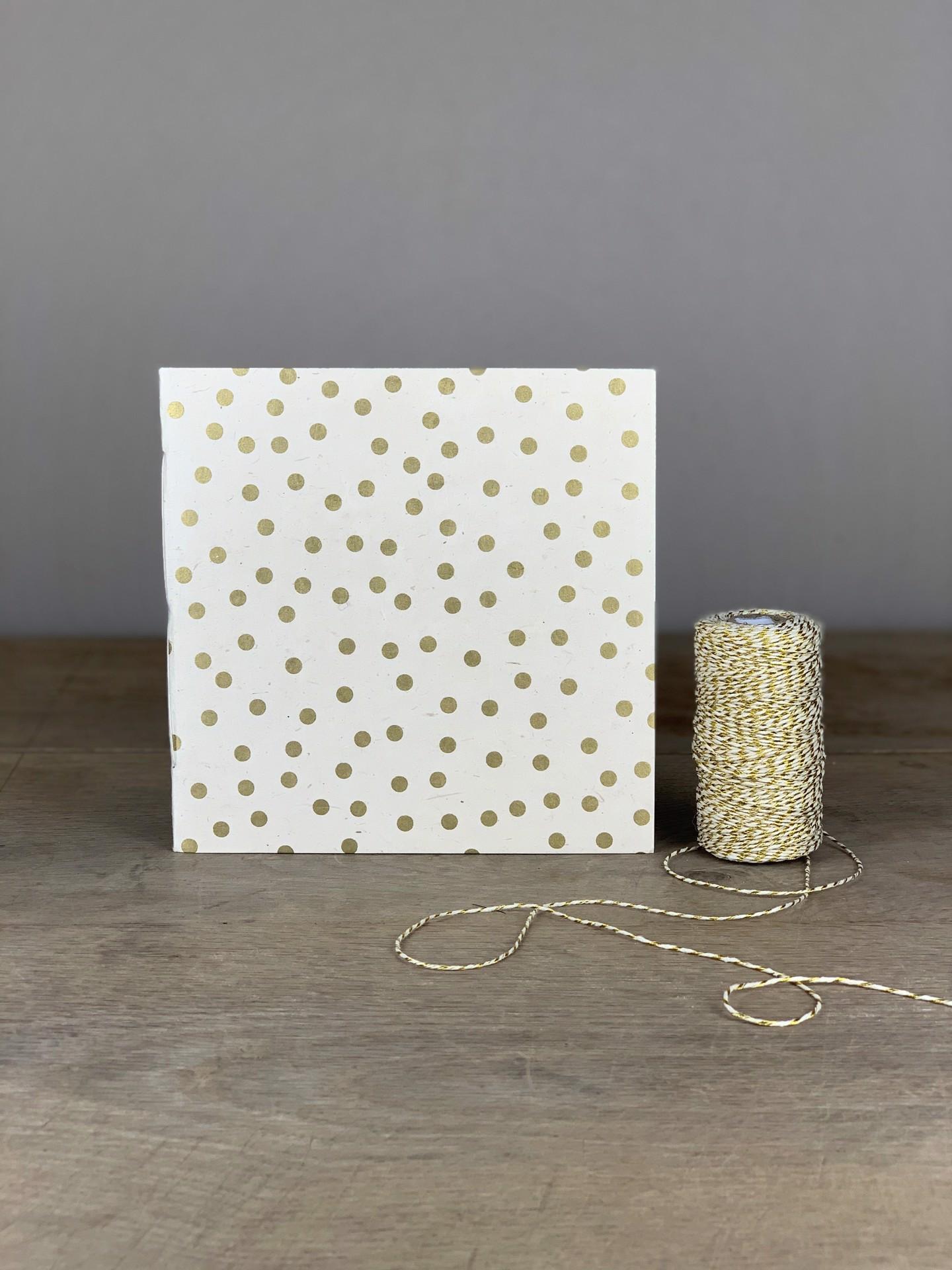Album Softcover Quart Tupf Weiß/Gold