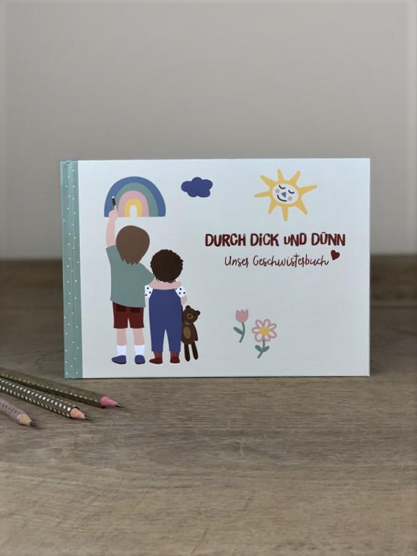 Erinnerungsbuch Geschwister Durch Dick und Dünn