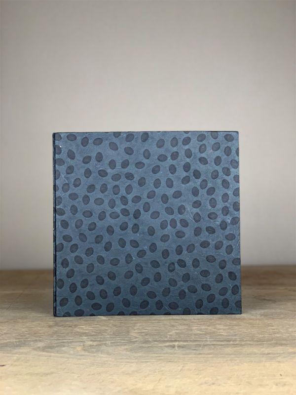 Album groß Quart uni schwarz Dots